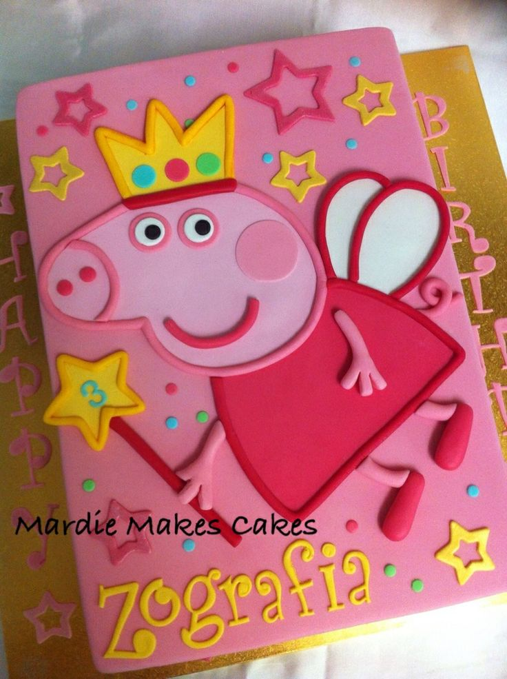 Princess Peppa Pig Sheet Cake www.facebook.com/MardieMakesCakes More
