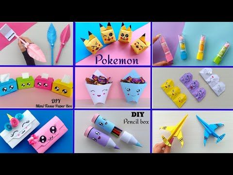 11 EASY CRAFT IDEAS | School Craft Idea/ DIY Craft/ School hacks/ Origami  craft/paper mini gift idea - YouTub… | Diy crafts for school, Crafts, Diy  decoupage crafts