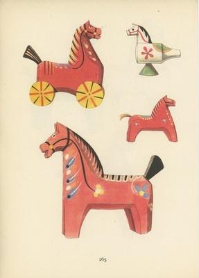 folk toy prints (the dala horse is my favorite)