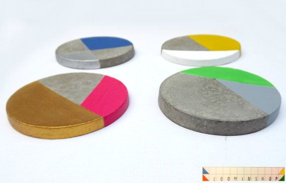 Multicolour Coaster Set x 4 Custom Made by LOOMINSHOP on Etsy, £10.00