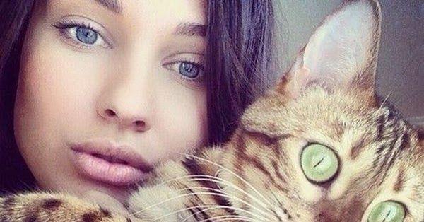 قد يتم تصوير القطط في بعض الأحيان على أنها مزاجية ومضادة للمجتمع Lilu هو القطط رائعتين الذي يحب صديقها لطيف ومحبة كاثرين عمرها أربع سنوات Cats Photo Animals