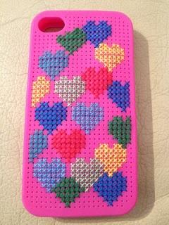 I phone cross stitch case - Estuche para Iphone en punto de cruz