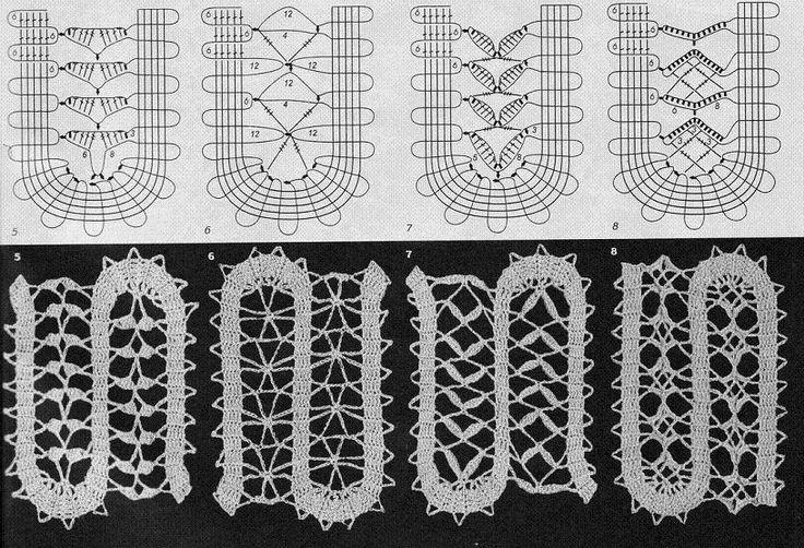 crochet lace. Bruges lace.