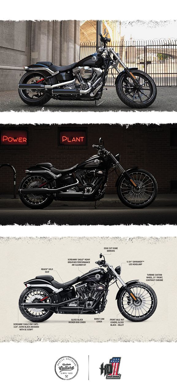 We stuff it brimful with raw power. | 2016 Harley-Davidson Breakout