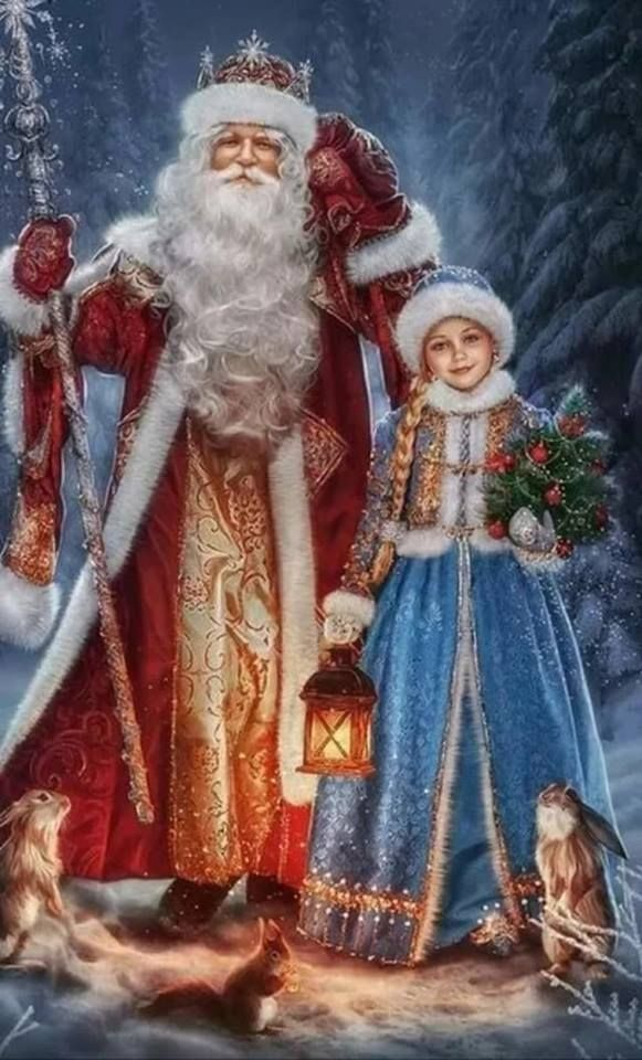 Russian Christmas.Russian Christmas Ded Moroz Old Man Frost A Kind Of Santa