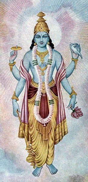 VISHNU: Sanskrit: विष्णु, Viṣṇu. Lord Vishnu is the all-pervading, omnipresent, Supreme Divinity of Creation. Viṣ means the universe, and ṇu means who pervades or embodies. Vishnu is He who pervades the universe or embodies the universe. http://www.shreemaa.org/lord-vishnu/