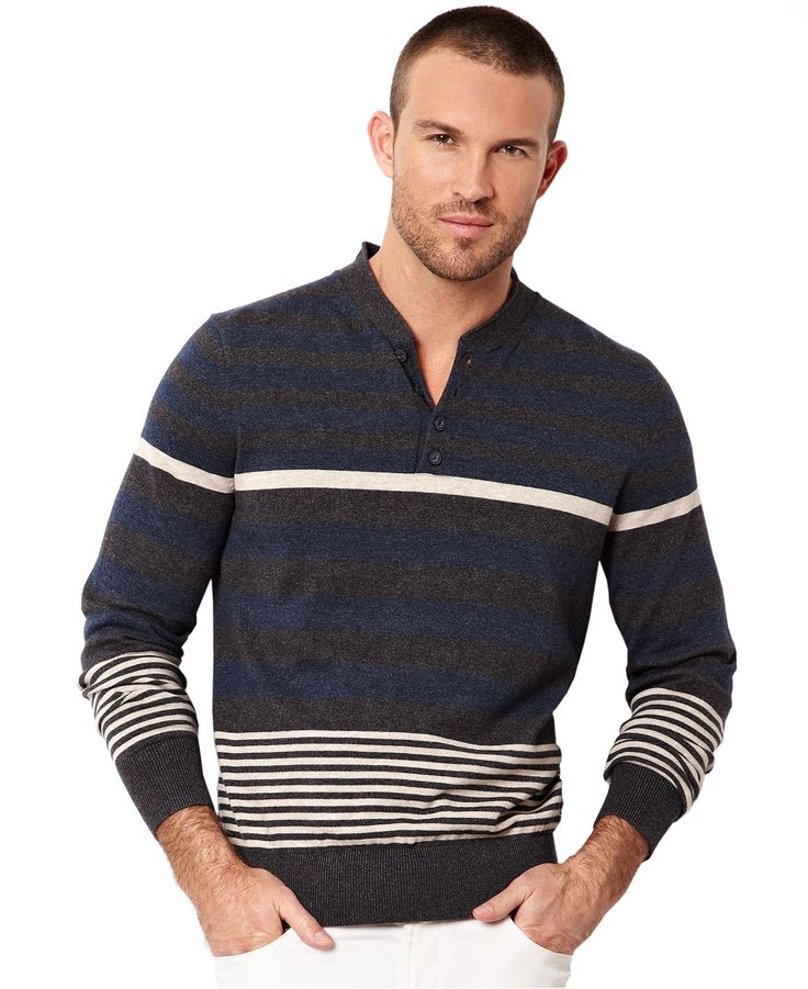 Nautica Shirt, English Stripe Henley Shirt - T-Shirts - Men - Macy\u0027s