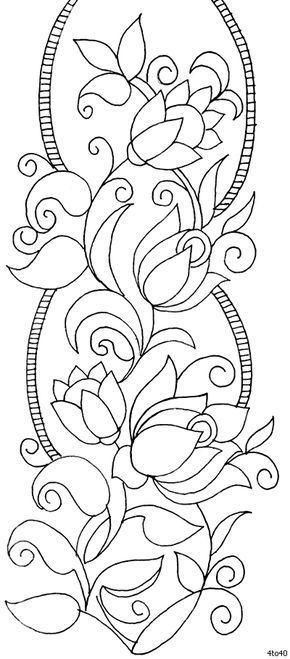 Indian Pattern Motivos Textil, Patrón Sarika Agarwal Textile Frontera 3, indios Motivos Dinámica Textil Patrones, Textil Guía de Madhya Prad ...