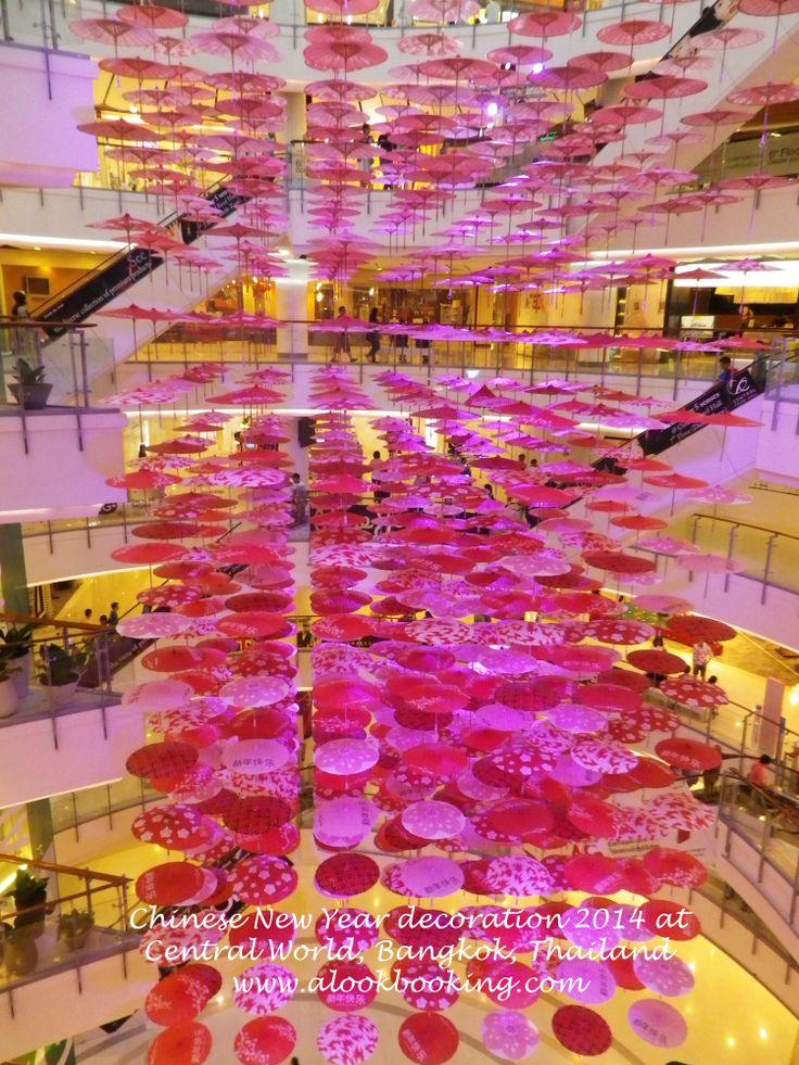 Chinese New Year decoration 2014 at Central World, Bangkok, Thailand  Decoración Año Nuevo Chino 2014 en el Central World, Bangkok, Tailandia
