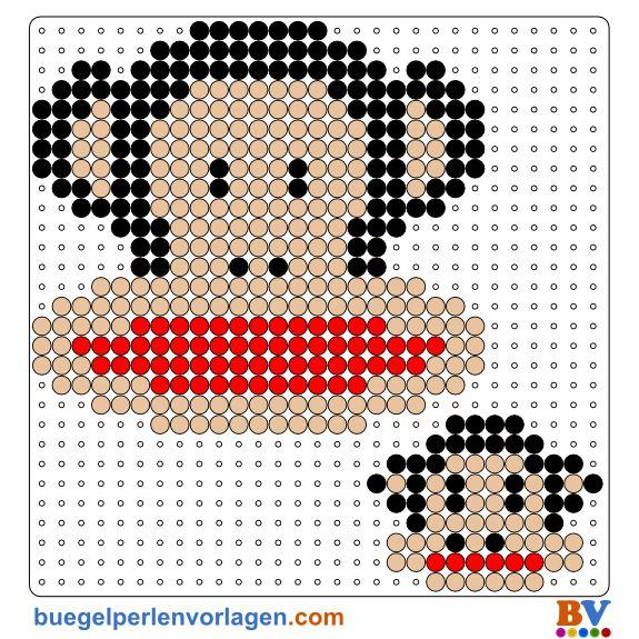 Julius the Monkey by Paul Frank perler bead pattern