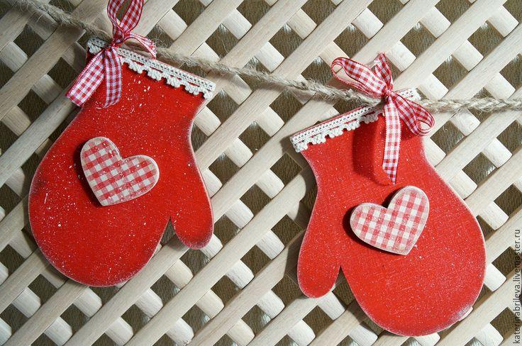 """Купить Гирлянда новогодняя """"Рукавички с любовью.."""" - Новый Год, рождество, рождественский декор"""