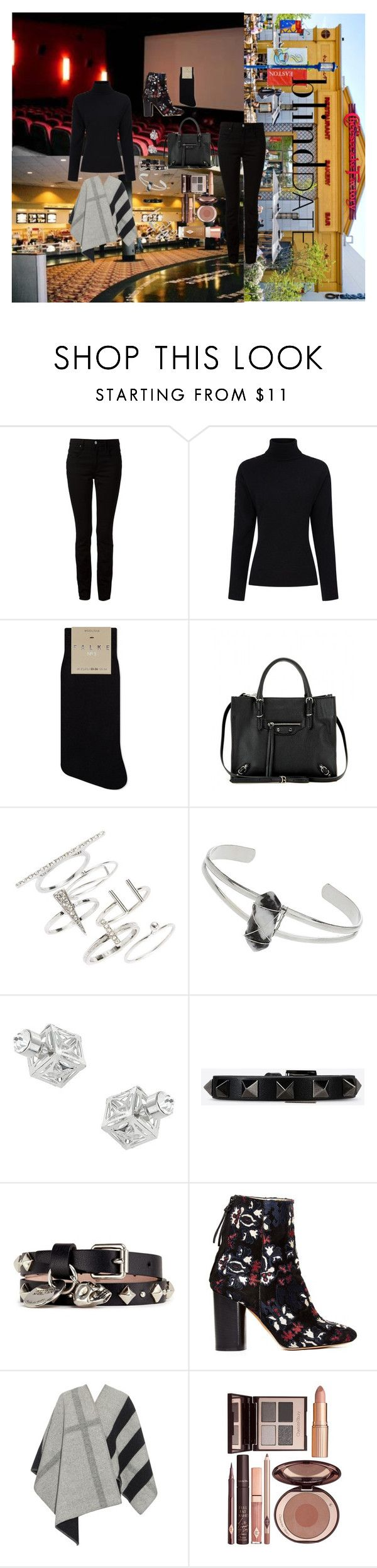 """Blind Date: Cheesecake Factory and a Movie"" by atho-12345 ❤ liked on Polyvore featuring T By Alexander Wang, Preen, Falke, Balenciaga, Topshop, Valentino, Alexander McQueen, Isabel Marant, Burberry and Charlotte Tilbury"