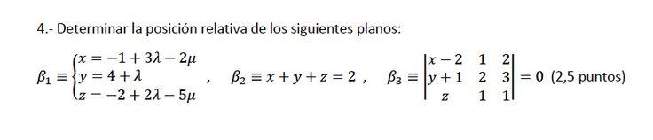 Ejercicio 4B 2013-2014 Julio. Propuesto en examen pau de Canarias. Matemática. Geometría métrica.