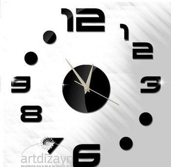 Главная украшения 3D зеркало настенные часы безопасным современный дизайн DIY большой цифровые часы стены наклейки большие настенные часы домашнего декора
