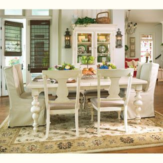 Charming Rectangular Dining Table Measuring X X With Leaves (extends To By Paula  Deen Furniture. UHW   Unique Furnishings For Home U0026 Patio