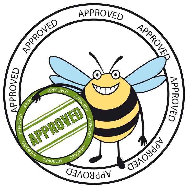 Logo della Matermacc con l'approvazione dell'ape!I depressori della MaterMacc, montati sulle seminatrici scaricano a terra e non nell'aria, salvaguardando la vita del prezioso insetto.