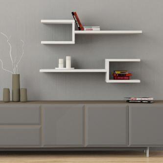2x tag re murale blanc meubles pinterest - Etagere murale escargot ...