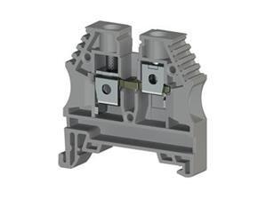 Electrical Terminal ,6mm2,screw type,single deck feed through terminal block,Insulation material PA,Grey