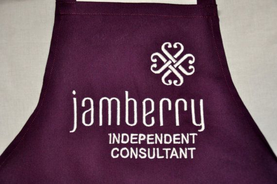 Personalized Embroidered Apron, Eggplant color, Perfect for  your Business