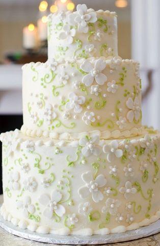 St Patricks Day Wedding cake