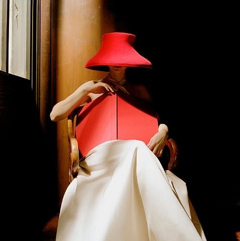 Rodney Smith, Woman in Red Hat with Book, NY Public Library, NYC