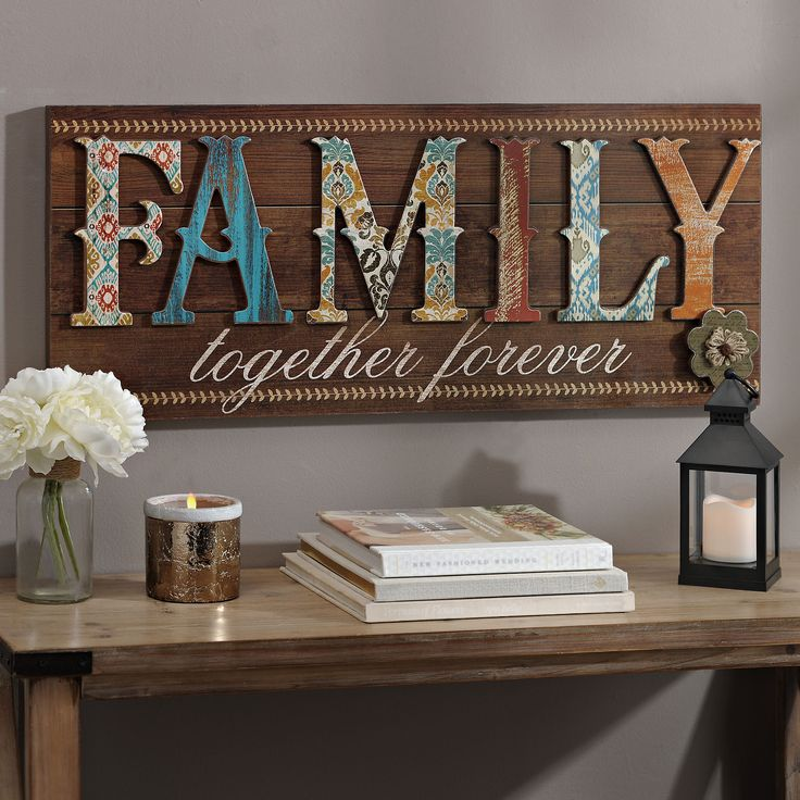Patchwork Family Wood Plank Plaque  ~ $29.99 at t.kirklands.com