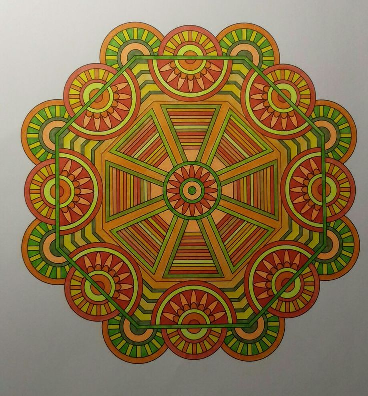 Week 56 / 13052017, mandala design vol. 2 by Jenean Morrison coloured by Artemis Anapnioti.