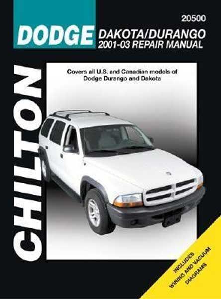 Dodge Durango & Dakota Chilton Repair Manual 2001-2003: Vehicles Covered Dodge Durango and Dakota Years… #CarParts #AutoParts #TruckParts