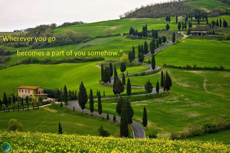 wherever you go becomes a part of you somehow #travel #quotes