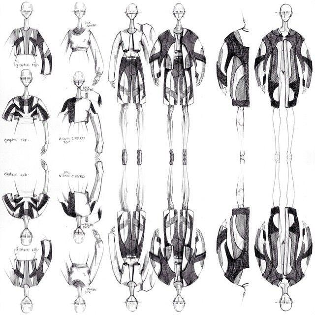 Fashion Sketchbook - fashion drawings, fashion design sketching, creative process // Justus