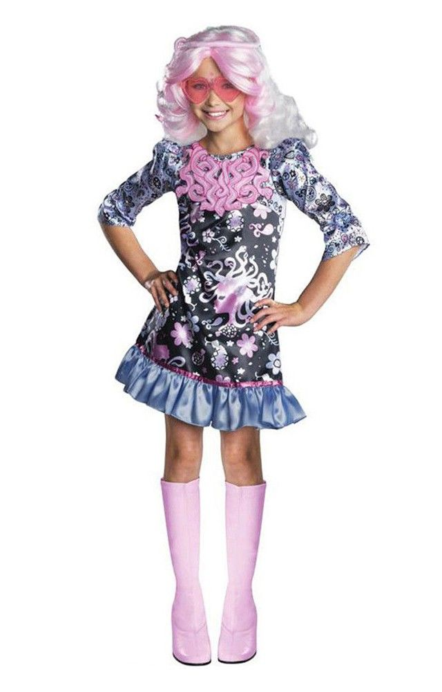 Quatang Gallery- Frights Camera Action Monster High Viperine Child Costume Girls Halloween Dress Monster High Costume Girl Costumes
