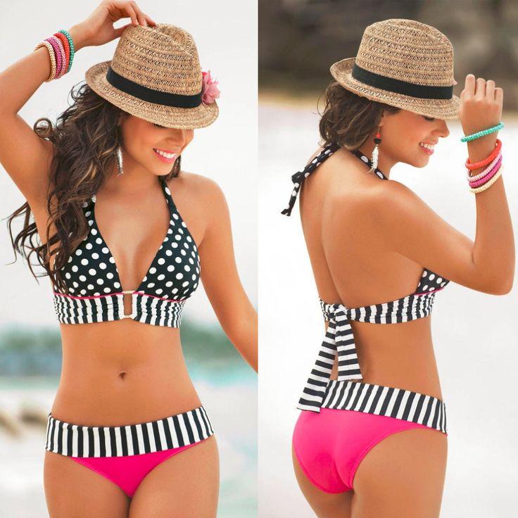 Only $16.53 - Awesome High Waisted Retro Fringe Vintage Bikini Swimsuit Bathing Swim Polka Dots High Waisted Retro Fringe Vintage Bikini Swimsuit hot - Buy it Now!