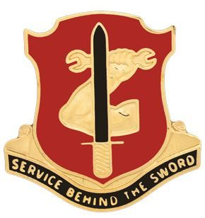 185th Maintenance Battalion Unit Crest (Service Behind the Sword)
