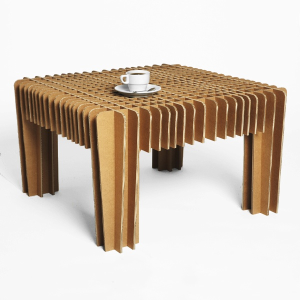 Dont spill your coffee table cardboard table very - Muebles ecologicos ...