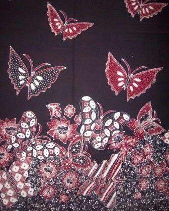 Batik Lasem sarimbit kupu kupu