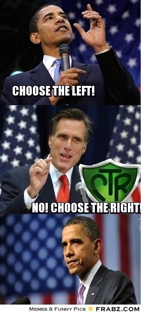 Just a lighthearted funny not a political statement on my part. Just go out and vote, period.