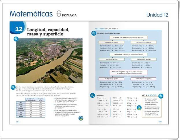 """Unidad 12 de Matemáticas de 6º de Primaria: """"Longitud, capacidad, masa y superficie"""""""