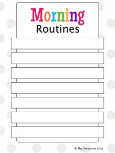 Our Morning Routine plus FREE Morning Routine Chart for Children