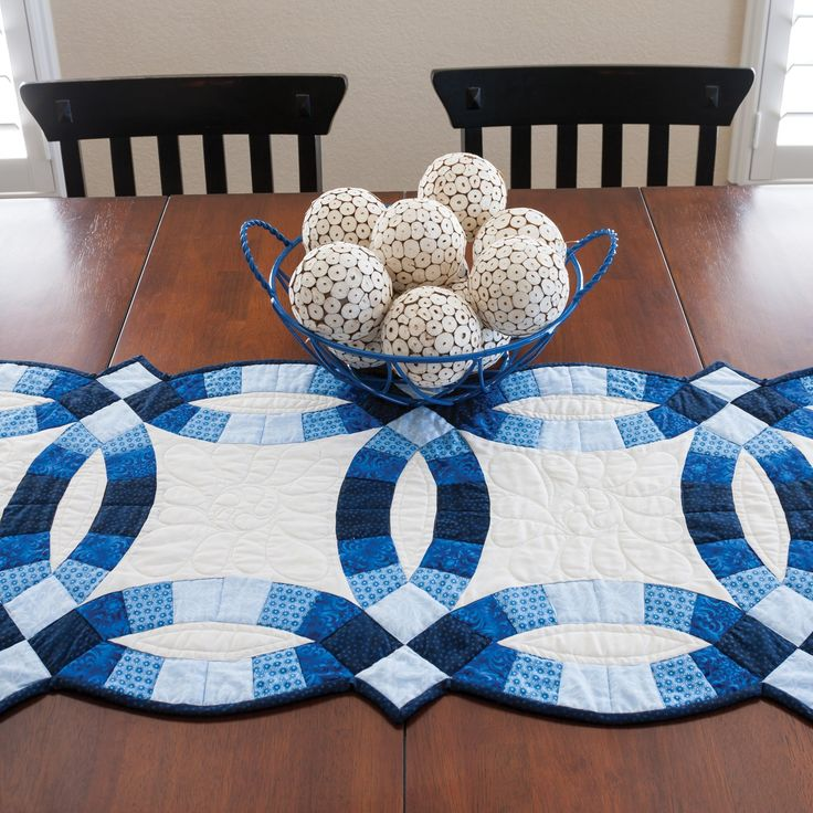 Classic Double Wedding Ring Table Runner Made With The GO! Big Double