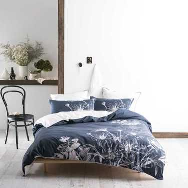 Marie Claire Mortimer Quilt Cover Set Navy