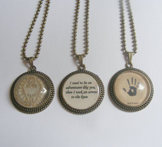 Skyrim Jewelry Necklace Pendants Must Have!!!!