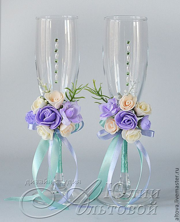"""Купить Свадебные бокалы """"Рапсодия"""" - свадебные бокалы, купить свадебные бокалы, свадебные аксессуары"""