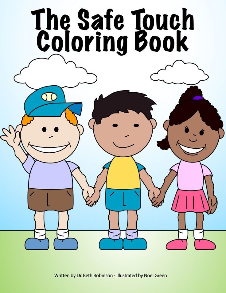 The Safe Touch Coloring Book Provides An Easy Way For Adults To Teach Children How