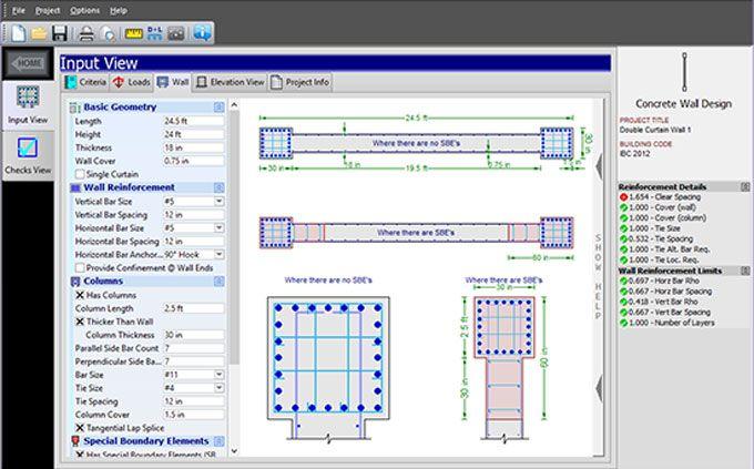 Quickconcretewall A Useful Construction Program For Concrete Shear Walls Design In 2020 Software Design Wall Design Design