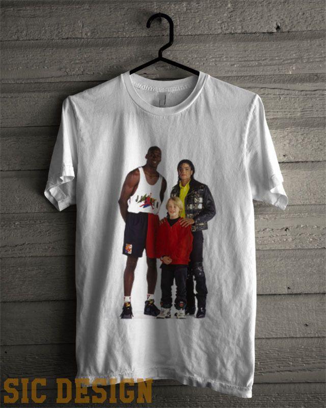 Grapa camioneta erección  Michael Jordan Michael Jackson Macaulay Culkin T Shirt Hype Vintage Vtg  Retro