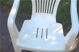 Cleaning your Patio Furniture  For cleaning resin patio furniture, mix 1 part dish soap to 8 parts bleach then wipe on and leave for 30 minutes. Rinse and repeat if neccessary. Comes clean every time!
