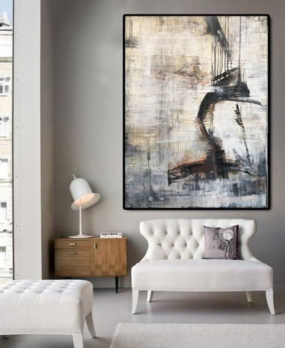 Oversize Abstract Artwork Interior Interiordesign