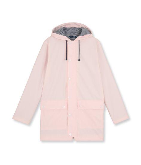omg @petitbateau's classic women's water-repellent rain coat comes in light pink this season! 5 Cool Rain Coats // jojotastic.com