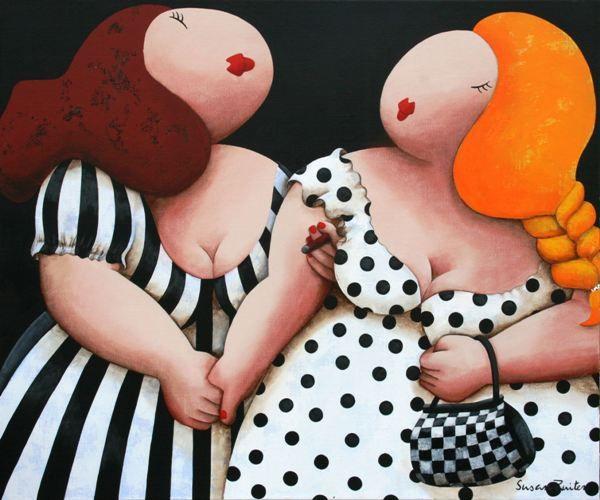 Best friends. Een schilderij van Susan Ruiter Schilderijen