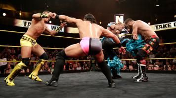 Adrian Neville defends his NXT Championship against Sami Zayn, Tyler Breeze and Tyson Kidd in the first-ever Fatal 4-Way Match on WWE NXT.